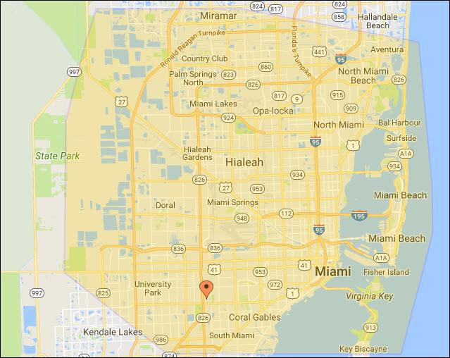 Our Miami Plumbing Service Area - Eco 1 Plumbing LLC