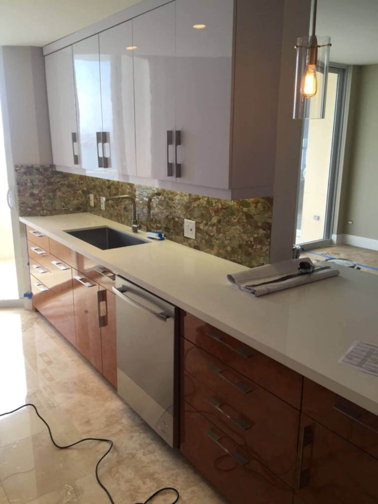 New kitchen and bathroom Brickell Key